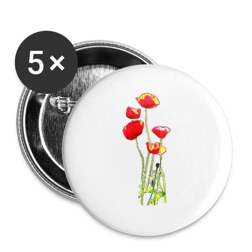 Mohn - Buttons klein 25 mm