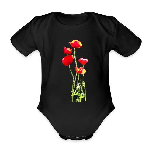 Mohn - Baby Bio-Kurzarm-Body