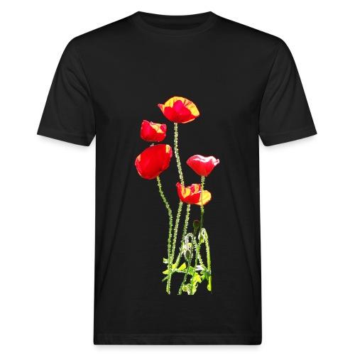 Mohn - Männer Bio-T-Shirt