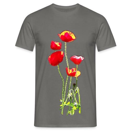 Mohn - Männer T-Shirt