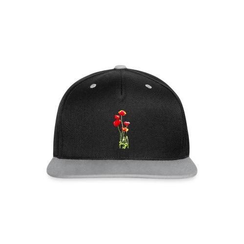 Mohn - Kontrast Snapback Cap