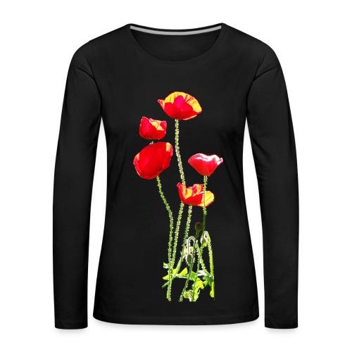 Mohn - Frauen Premium Langarmshirt