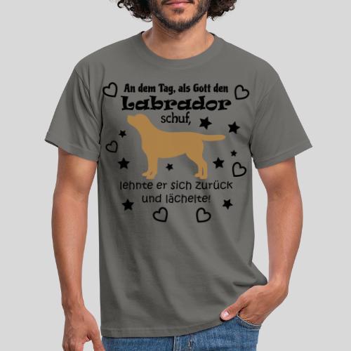 Als Gott den Labrador schuf... - Männer T-Shirt