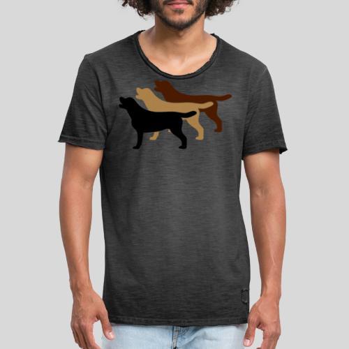 3 gelbe Labrador Retriever - Männer Vintage T-Shirt