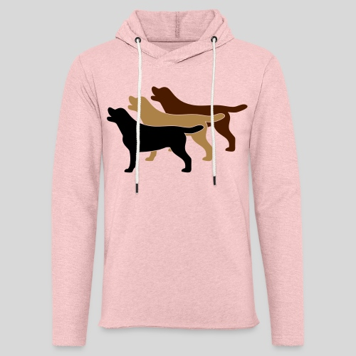 3 gelbe Labrador Retriever - Leichtes Kapuzensweatshirt Unisex