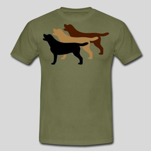 3 gelbe Labrador Retriever - Männer T-Shirt