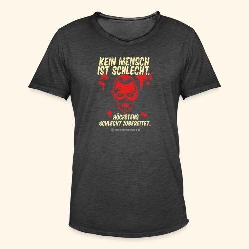 Kein Mensch ist schlecht - Männer Vintage T-Shirt