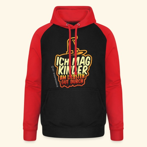 Ich mag Kinder ... am liebsten gut durch - Unisex Baseball Hoodie