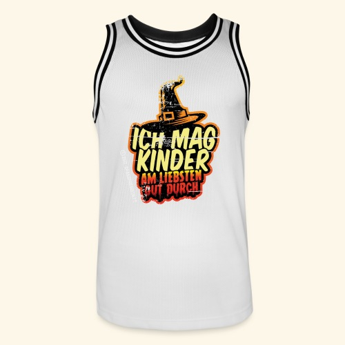Ich mag Kinder ... am liebsten gut durch - Männer Basketball-Trikot