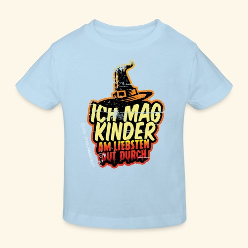 Ich mag Kinder ... am liebsten gut durch - Kinder Bio-T-Shirt