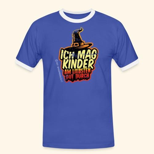 Ich mag Kinder ... am liebsten gut durch - Männer Kontrast-T-Shirt