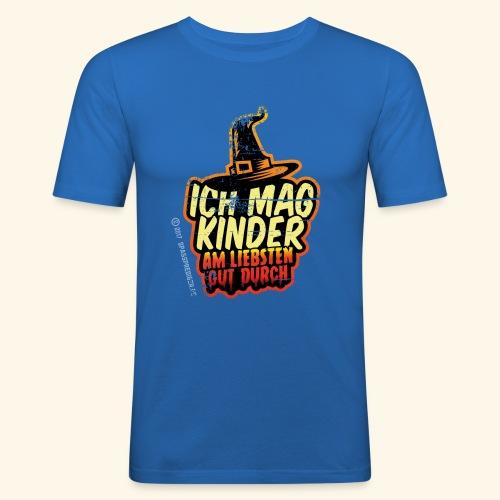 Ich mag Kinder ... am liebsten gut durch - Männer Slim Fit T-Shirt