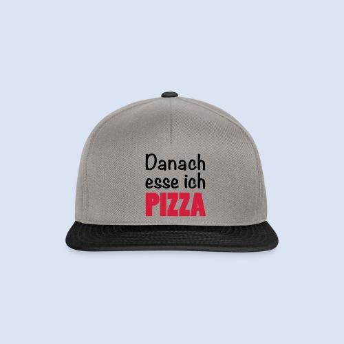 Danach esse ich PIZZA - Fast Food Porn #Foodporn - Snapback Cap