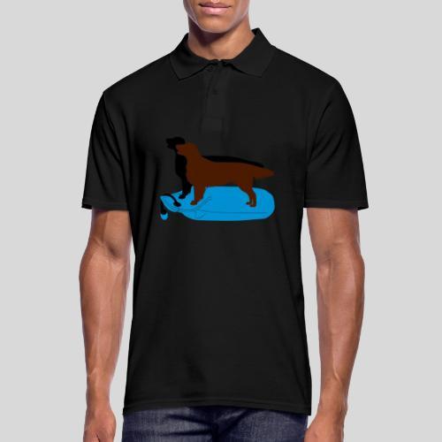 Flat Coated Retriever auf Dummy - Männer Poloshirt