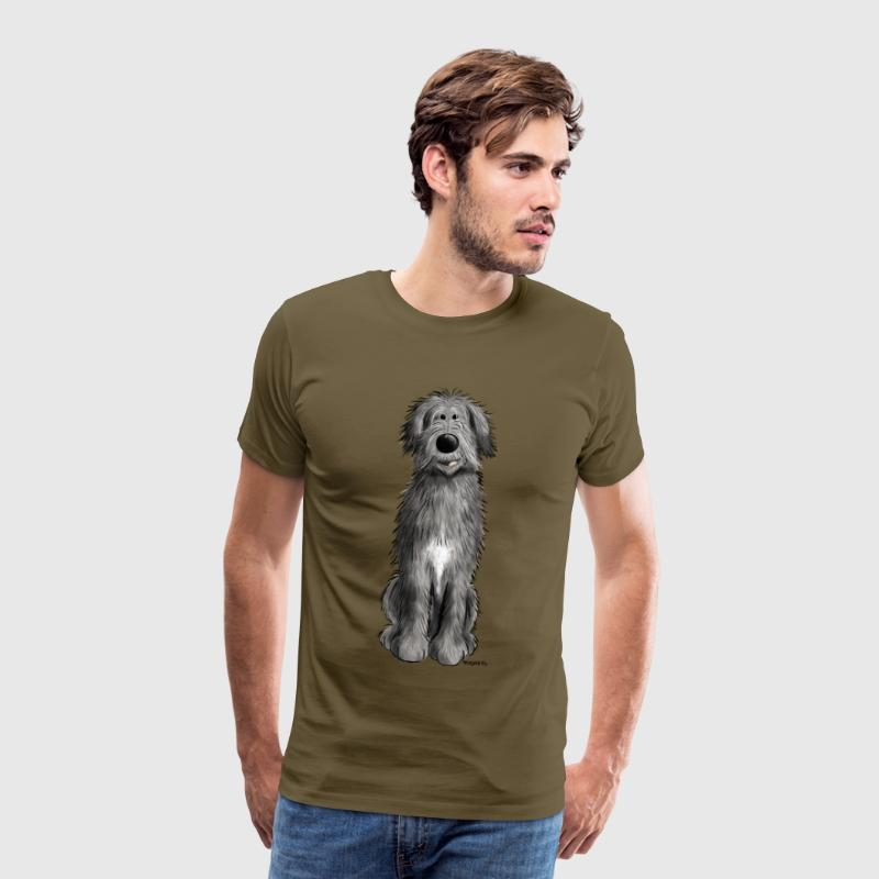 Sweet Irish wolfhound - cartoon - comic - funny  T-Shirts - Men's Premium T-Shirt