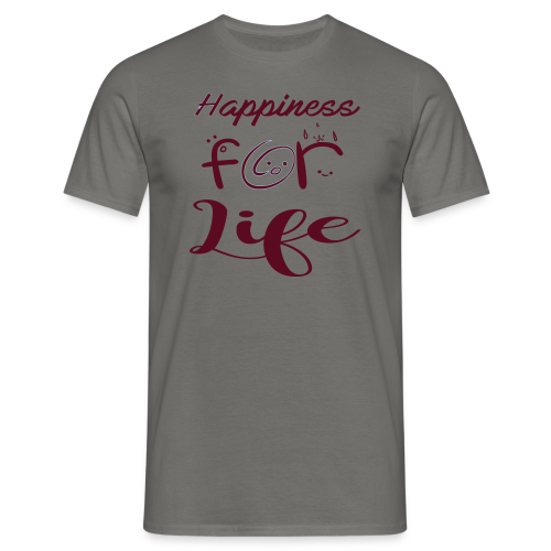 Happiness for life - 2017 - Männer T-Shirt
