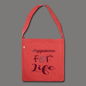 Happiness for life - 2017 - Schultertasche aus Recycling-Material