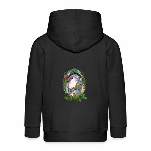 Mystical fairy garden - Kids' Premium Zip Hoodie