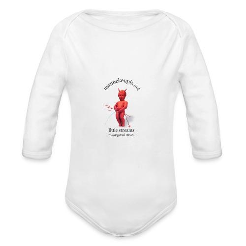 Diables Rouges  mannekenpis 小便小僧  - Body bébé bio manches longues