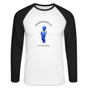 EU / enfant manneken pis - T-shirt baseball manches longues Homme