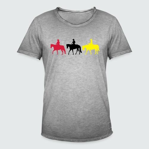 Drei-Westernreiter - Männer Vintage T-Shirt