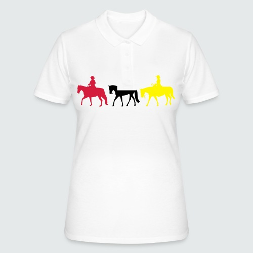 Drei-Westernreiter - Frauen Polo Shirt
