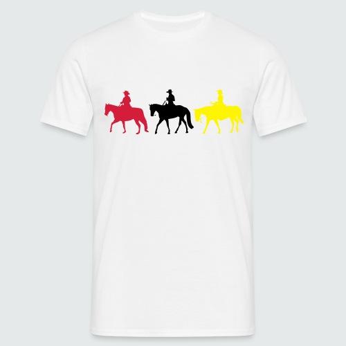 Drei-Westernreiter - Männer T-Shirt