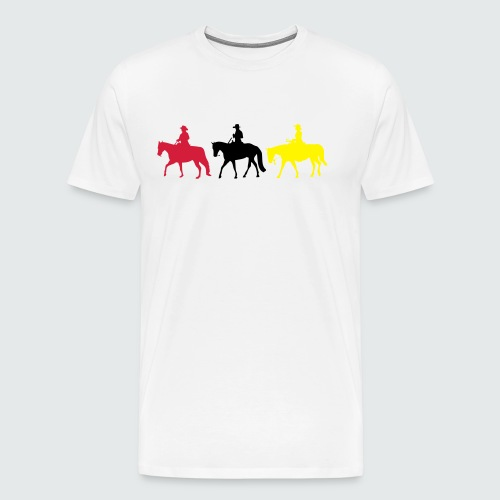 Drei-Westernreiter - Männer Premium T-Shirt