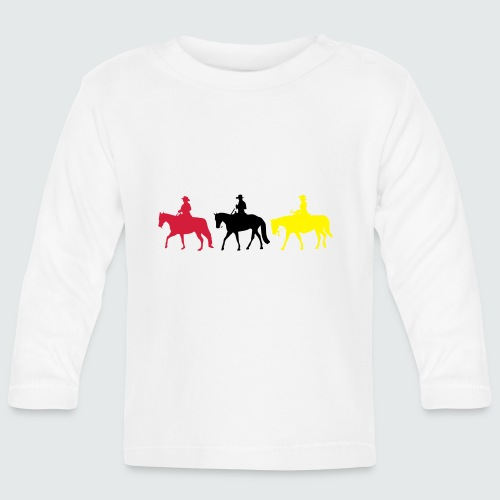 Drei-Westernreiter - Baby Langarmshirt