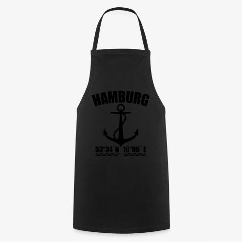 Hamburg Koordinaten Anker maritim Ahoi T-Shirt - Kochschürze