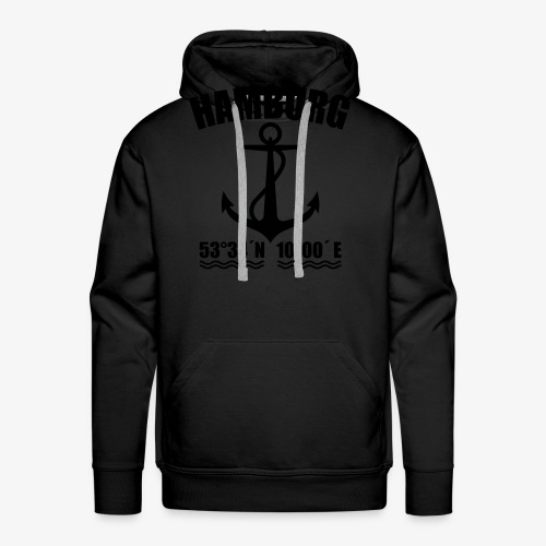 Hamburg Koordinaten Anker maritim Ahoi T-Shirt - Männer Premium Hoodie