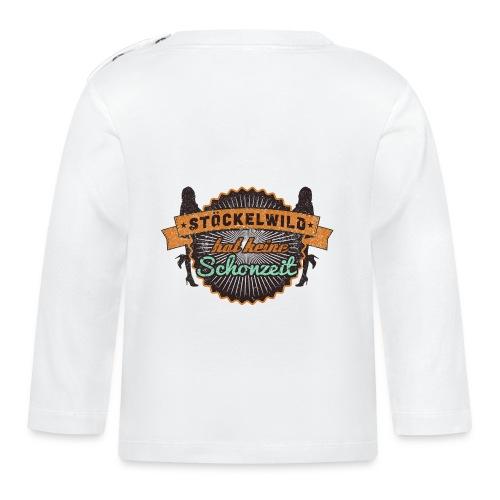 Hoodie - Stöckelwild Rücken braun - Baby Langarmshirt
