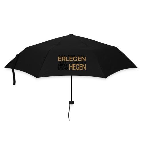 erlegen hegen Hoodie orange/beige - Regenschirm (klein)