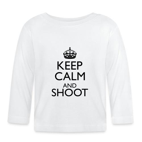 Keep Calm Hoodie beige - Baby Langarmshirt