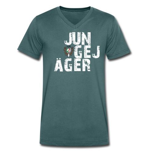 JungeJäger NRW grün - Männer Bio-T-Shirt mit V-Ausschnitt von Stanley & Stella