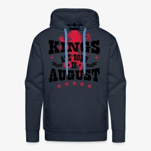 Kings are born in August King Crown Lion Löwe T-Shirt - Männer Premium Hoodie
