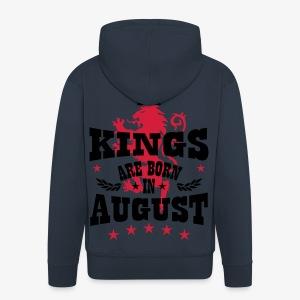 Kings are born in August King Crown Lion Löwe T-Shirt - Männer Premium Kapuzenjacke