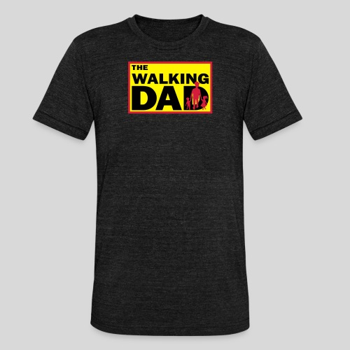 The Walking Dad - Unisex Tri-Blend T-Shirt von Bella + Canvas