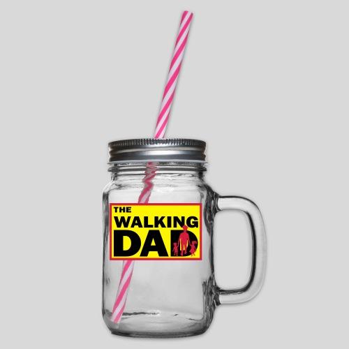 The Walking Dad - Henkelglas mit Schraubdeckel