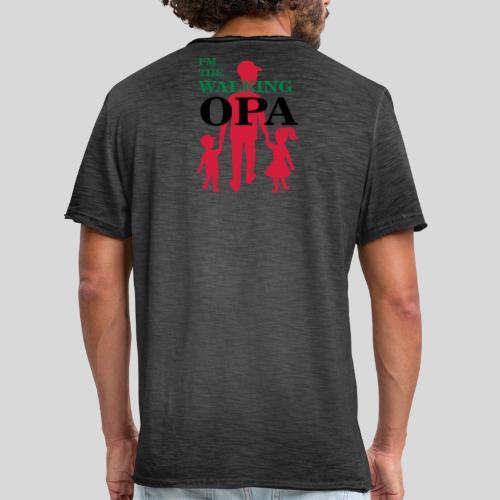 The Walking Opa - Männer Vintage T-Shirt