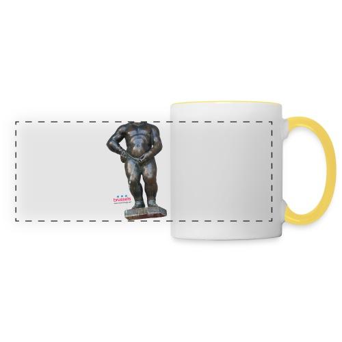 mannekenpis Big Real 小便小僧 2017 - Mug panoramique contrasté et blanc