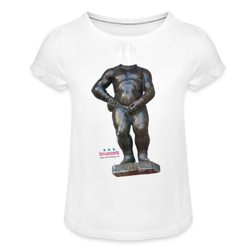 mannekenpis Big Real 小便小僧 2017 - T-shirt à fronces au col Fille