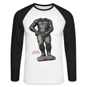 mannekenpis Big Real 小便小僧 2017 - T-shirt baseball manches longues Homme