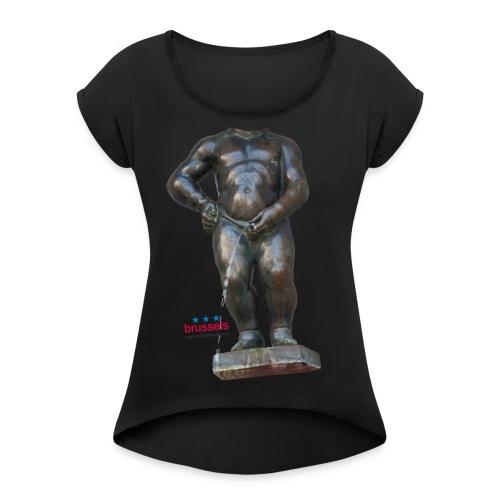mannekenpis Big Real 小便小僧 2017 - T-shirt à manches retroussées Femme