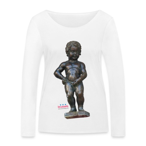 mannekenpis Real 小便小僧 2017 - T-shirt manches longues bio Stanley & Stella Femme