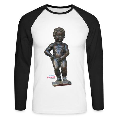 mannekenpis Real 小便小僧 2017 - T-shirt baseball manches longues Homme