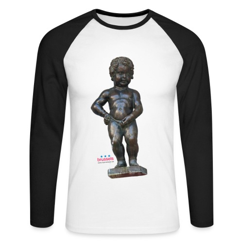 mannekenpis Real 小便小僧 2017 - T-shirt baseball manches longues Homme