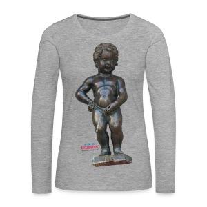 mannekenpis Real 小便小僧 2017 - T-shirt manches longues Premium Femme