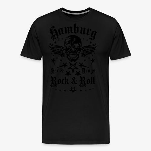 Hamburg Sex Drugs Rock & Roll Skull Frauen T-Shirt schwarz - Männer Premium T-Shirt