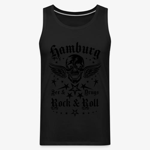 Hamburg Sex Drugs Rock & Roll Skull Frauen T-Shirt schwarz - Männer Premium Tank Top